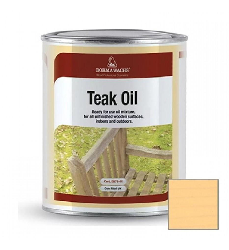 Масло тиковое Borma Wachs Teak Oil цвет М12041 Натуральное дерево , 1 л