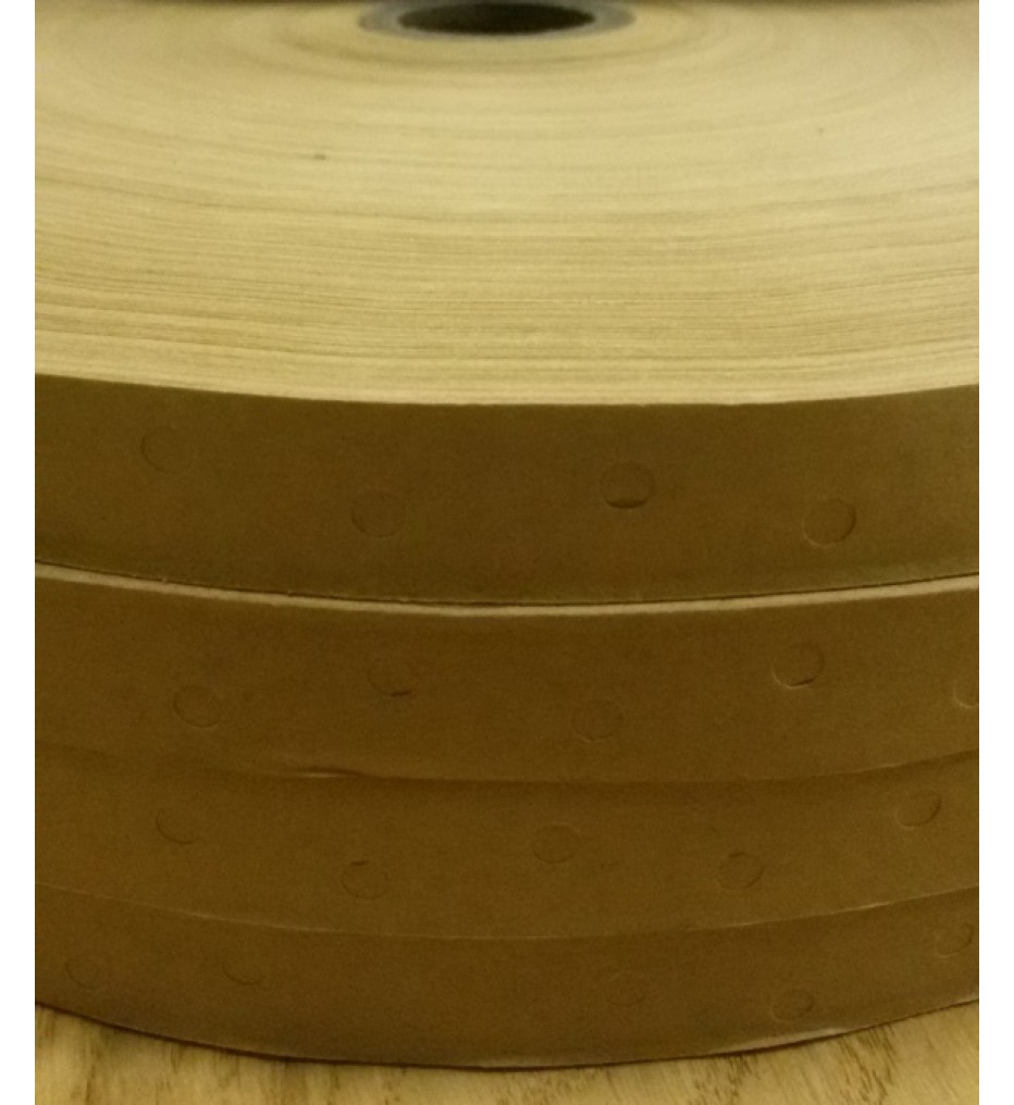 Перфорированная лента с клеем (гумирка) 16мм, рулон 500 м, коричневая