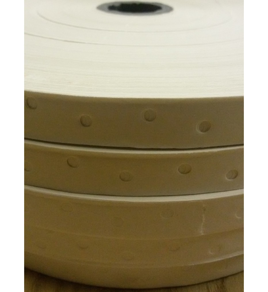 Перфорированная лента с клеем (гумирка) 16мм, рулон 500 м, белая