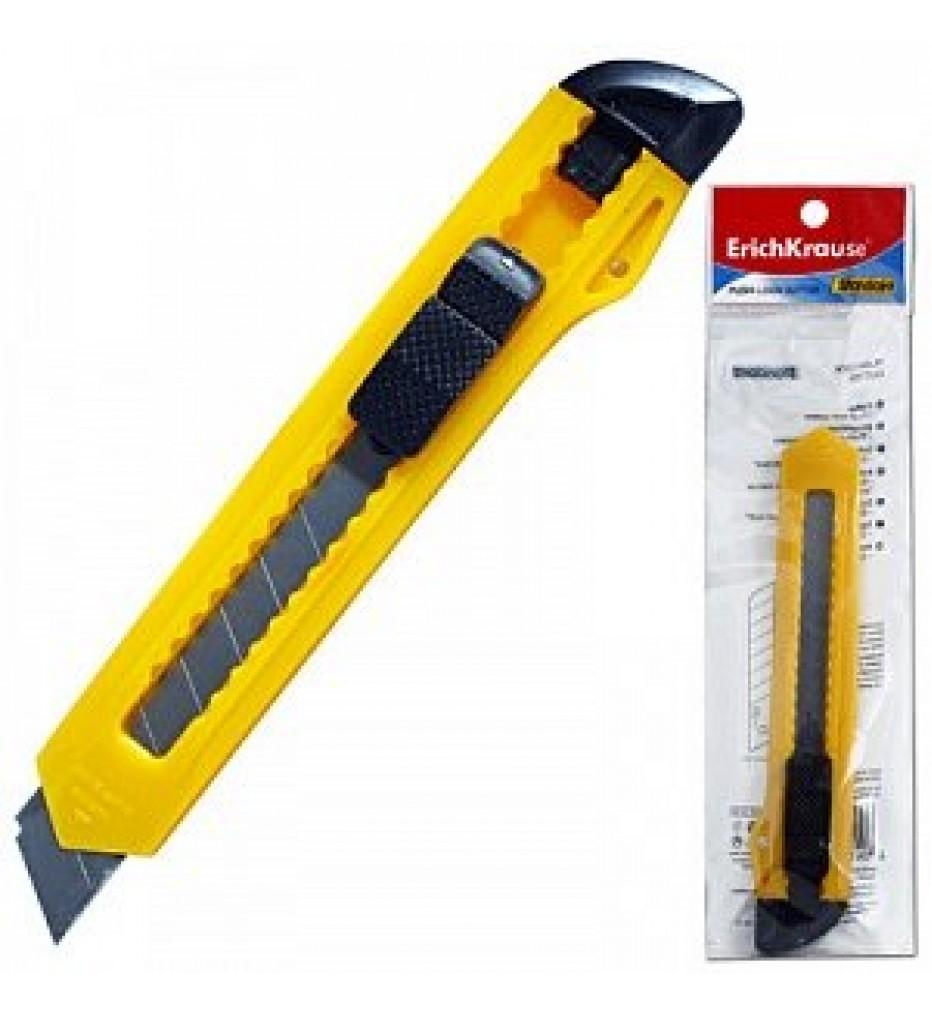 Нож универсальный Erich Krause, Standard, 18 мм, фиксатор, упаковка с европодвесом