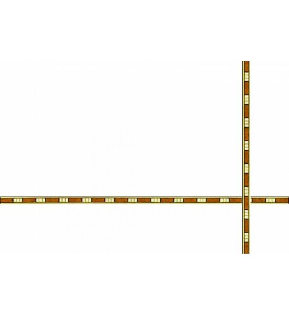 Шпон для инкрустации (маркетри), 6 мм, 1 м.пог
