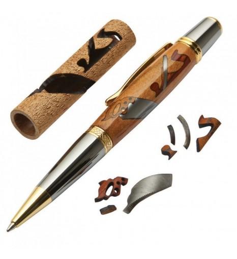 Ручка шариковая с инкрустацией Столяр - набор для сборки.