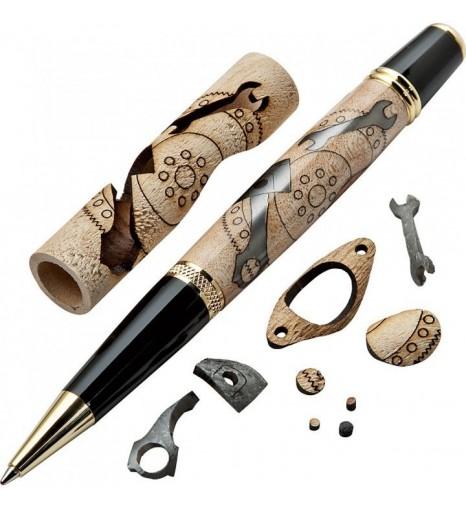 Ручка шариковая с инкрустацией Механика - набор для сборки.