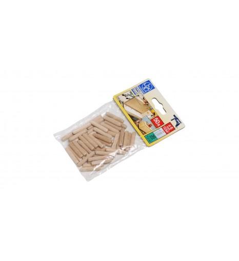 Набор рифленых деревянных нагелей (шкантов) 10х30 мм