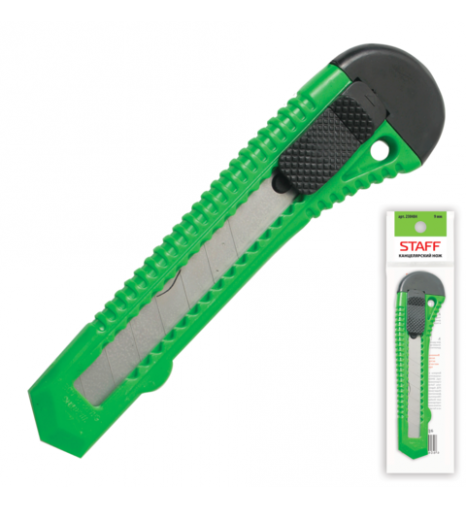 Нож канцелярский STAFF эконом, 18мм, фиксатор
