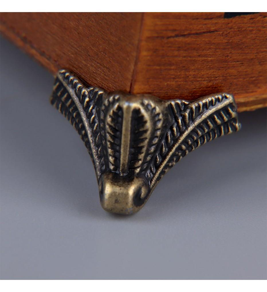 Ножка угловая декоративная, античная бронза, 25х25х10 мм, (4 штуки)