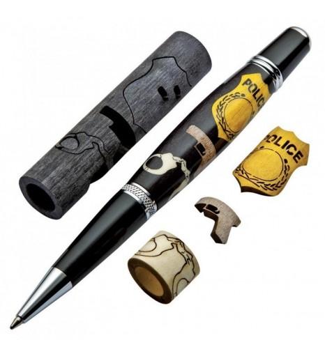 Ручка шариковая с инкрустацией Полиция - набор для сборки.