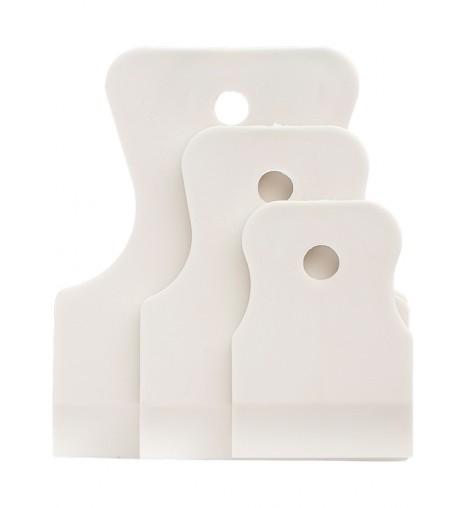 Набор шпателей, белая резина, 40/60/80 мм, 3 шт.