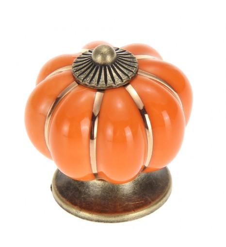 Ручка керамическая Тыква, оранжевая